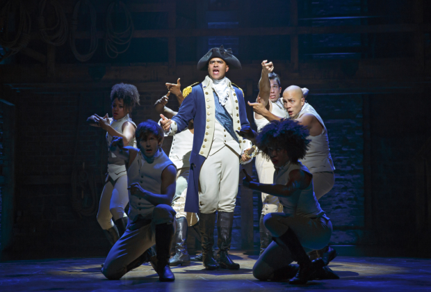 <p>General George Washington is played by Christopher Jackson.</p><br />(© Joan Marcus)
