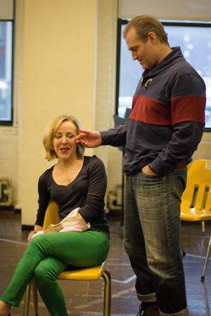 <p>Geneva Carr and Marc Kudisch take on the roles of Margery and Pastor Greg.</p><br />(photo courtesy of MCC Theater)