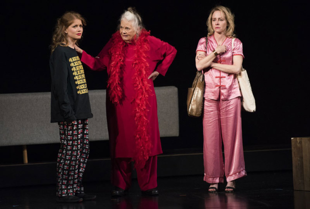 <p>Genevieve Angelson, Lois Smith, and Amy Hargreaves perform <em>Freak Encounters</em>.</p><br />(© Jenny Anderson)
