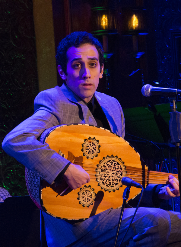 <p>George Abud accompanies himself on the oud as he performs a reinvented version of &quot&#x3B;Children and Art&quot&#x3B; from <em>Sunday in the Park With George</em>.</p><br />(© David Gordon)