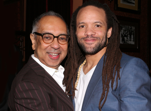 <p>George C. Wolfe and Savion Glover were on hand to accept the honors on behalf of <em>Shuffle Along</em>.</p><br />(© David Gordon)