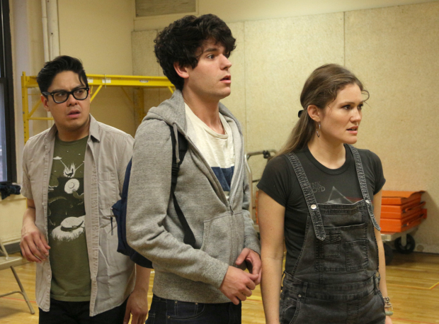<p>George Salazar, Chris McCarrell, and Kristin Stokes head the cast of  <em>The Lightning Thief: The Percy Jackson Musical</em>.</p><br />(© David Gordon)