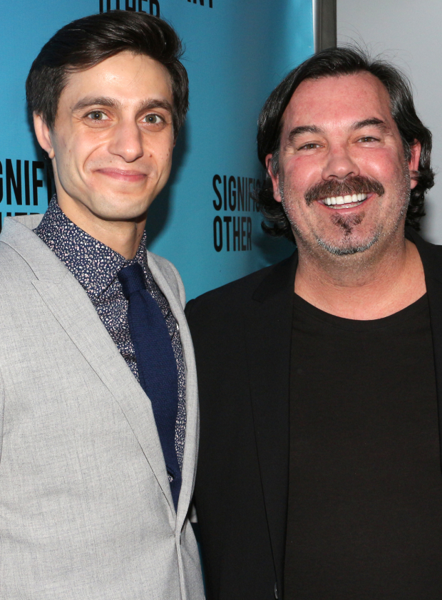 <p>Gideon Glick reunites with <em>Spring Awakening</em> composer Duncan Sheik.</p><br />(© David Gordon)