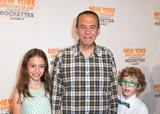 <p>Gilbert Gottfried brought along his children, Lily and Max, to the show.</p><br />(© Allison Stock)