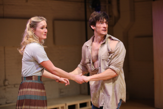 <p>Ginna Le Vine and David T. Patterson take the stage in <em>Picnic</em>.</p><br />(© Carol Rosegg)