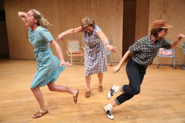 <p>Ginna Le Vine, Michele Pawk, and Hannah Elless appear at the Gym at Judson in William Inge&#39&#x3B;s <em>Picnic</em>.</p><br />(© Carol Rosegg)