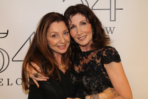 <p>Gleason celebrates with her friend Donna Murphy. </p><br />(© Dylan Bustamante/54 Below)