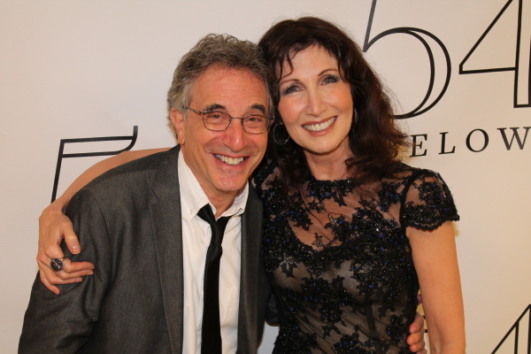 <p>Gleason poses with <em>Into the Woods</em> costar Chip Zien.</p><br />(© Dylan Bustamante/54 Below)