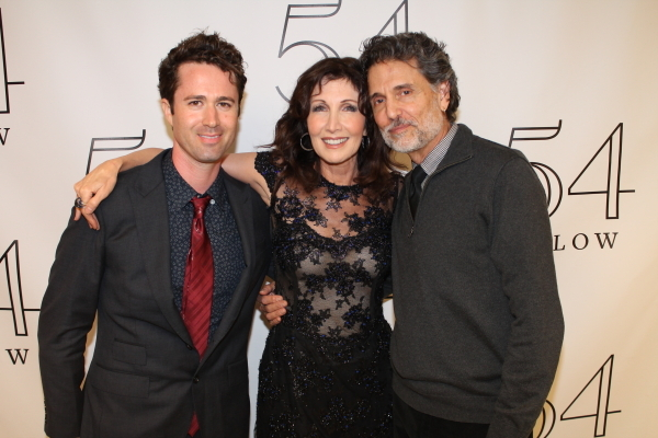 <p>Gleason with her family: husband Chris Sarandon and son Aaron Gleason</p><br />(© Dylan Bustamante/54 Below)
