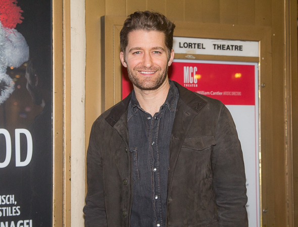 <p><em>Glee</em> star Matthew Morrison shows his pearly whites.</p><br />(© Seth Walters)