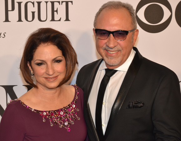 <p>Gloria Estefan, whose new musical <em>On Your Feet!</em> is Broadway-bound, makes an appearance with her husband.</p><br />(© David Gordon)