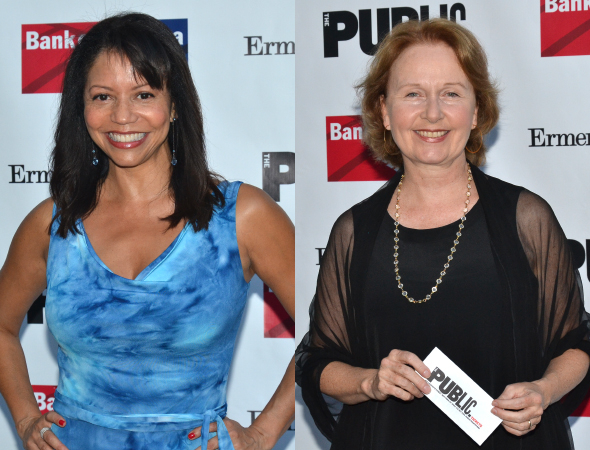 <p>Gloria Reuben and Kate Burton smile for the cameras.</p><br />(© David Gordon)