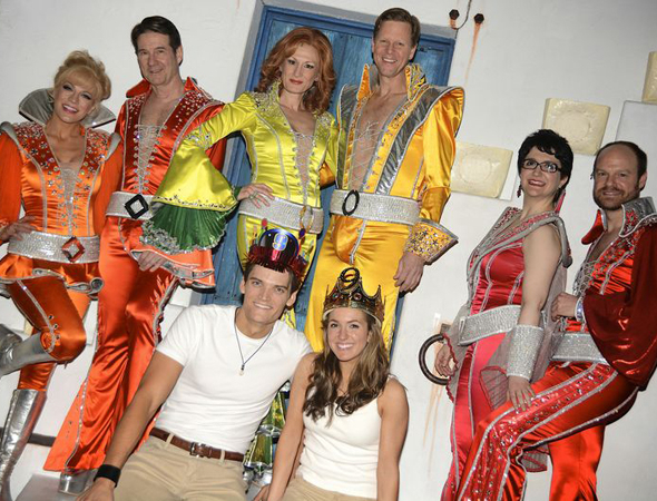 <p>Go see Broadway hit <em>Mamma Mia!</em> at the Broadhurst Theatre.</p><br />(© Nessie Nankivell)