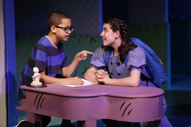 <p>Gregory Diaz and Mavis Simpson-Ernst are Schroeder and Lucy.</p><br />(&copy&#x3B; Carol Rosegg)