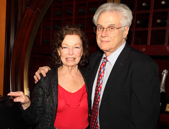 <p>Gretchen Cryer and Jeffrey Lyons (pictured) accepted the Madge Evans and Sidney Kingsley Awards on behalf of Lisa Kron and Viola Davis.</p><br />(© Douglas Gorenstein)