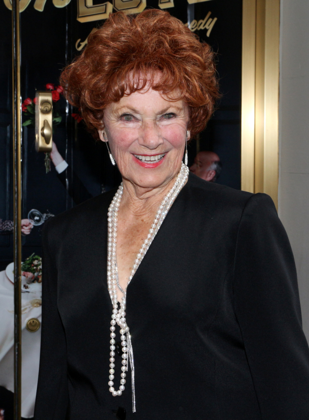 <p>Guests at the <em>Living on Love</em> opening included <em>Happy Days</em> matriarch Marion Ross, part of the Joe DiPietro cheering section.</p><br />(© David Gordon)