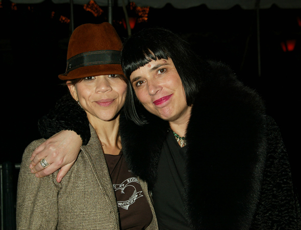 <p>Guests at the opening included actress Rosie Perez and playwright Eve Ensler.</p><br />(© Joseph Marzullo)