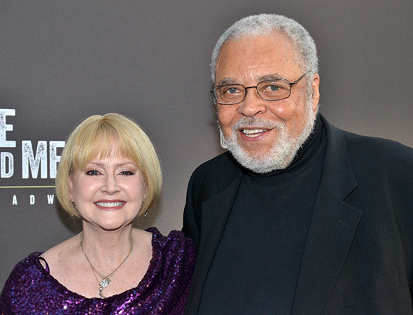 <p>Guests at the opening-night celebration included James Earl Jones, who played Lennie in the 1974 Broadway revival of <em>Of Mice and Men</em>, and his wife, Cecilia Hart.</p><br />(© David Gordon)