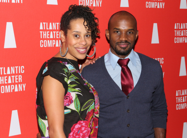 <p>Guests at the opening-night festivities included Atlantic&#39&#x3B;s <em>Skeleton Crew</em> playwright Dominique Morisseau and her husband, Jimmy Keys.</p><br />(© David Gordon)