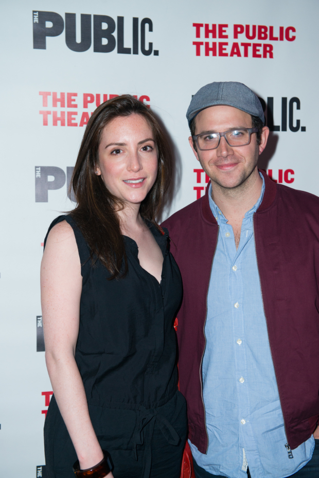 <p>Guests at the opening-night festivities included Jessica and Santino Fontana.</p><br />(© Allison Stock)