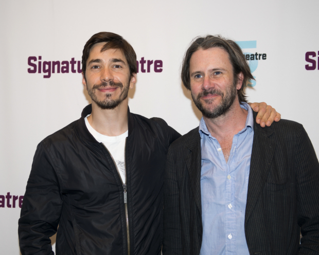 <p>Guests at the opening-night festivities included Justin Long and Josh Hamilton.</p><br />(© Allison Stock)