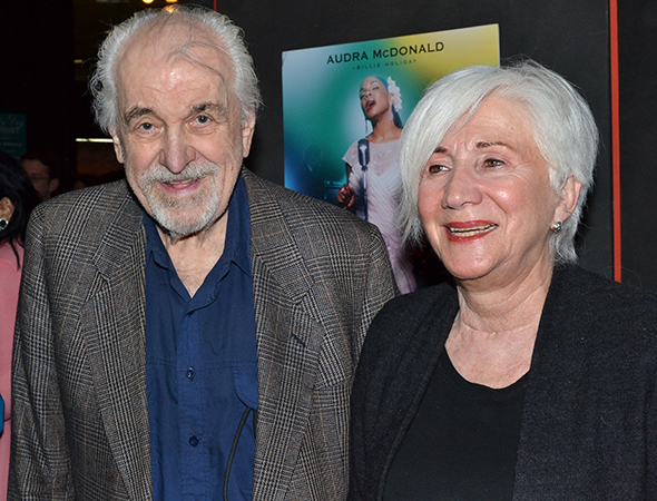 <p>Guests included actor couple Louis Zorich and Olympia Dukakis.</p><br />(© David Gordon)