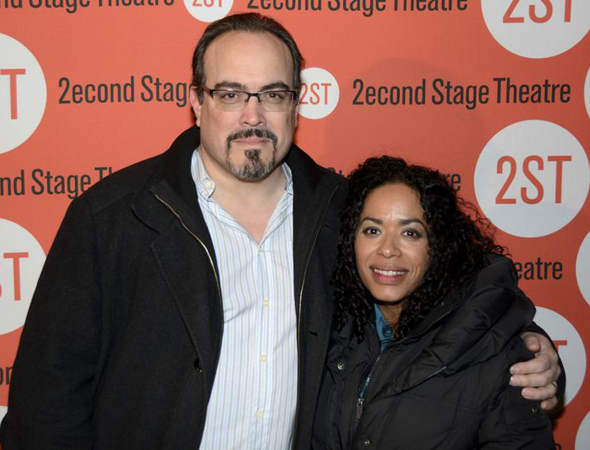 <p>Guests included actor David Zayas and his wife, Liza Colón-Zayas, who appeared in Hudes&#39&#x3B; <em>Water by the Spoonful</em> at Second Stage.</p><br />(© Nessie Nankivell)