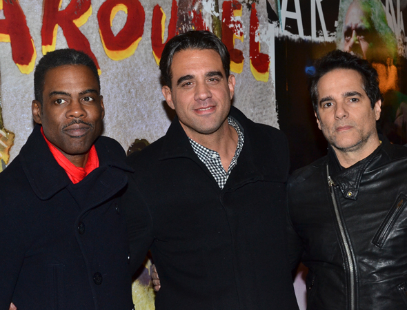 <p>Guests included Chris Rock, Bobby Cannavale, and Yul Vázquez, who were thrilled to cheer on their <em>Motherf**ker With the Hat</em> director, Anna D. Shapiro.</p><br />(© David Gordon)