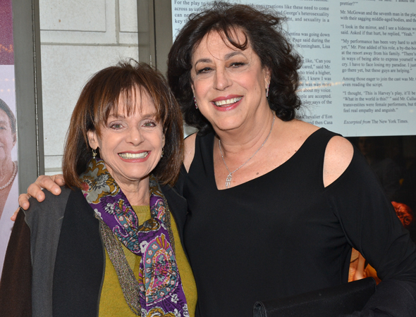 <p>Guests included Valerie Harper, who posed for photos with MTC Artistic Director Lynne Meadow.</p><br />(© David Gordon)