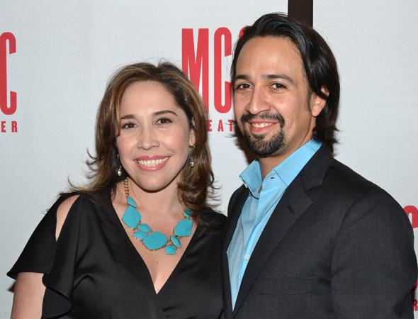 <p>Guests on hand for <em>Miscast</em> included <em>In the Heights</em> costars Andrea Burns and Lin-Manuel Miranda.</p><br />(© David Gordon)