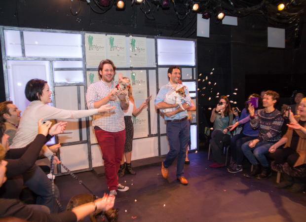 <p>Guests throw popcorn in celebration.</p><br />(© Seth Walters)