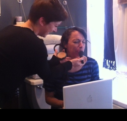 <p>Hair and makeup show up at my house, just like at yours… </p>