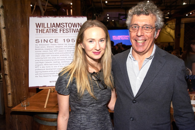 <p>Halley Feiffer and Eric Bogosian celebrate Williamstown Theatre Festival.</p><br />(© Richard Mitchell)
