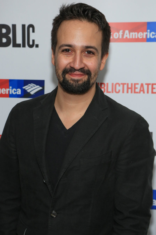 <p><em>Hamilton</em>&#39&#x3B;s Lin-Manuel Miranda showed up in support of frequent collaborator Thomas Kail.</p><br />(© Tricia Baron)