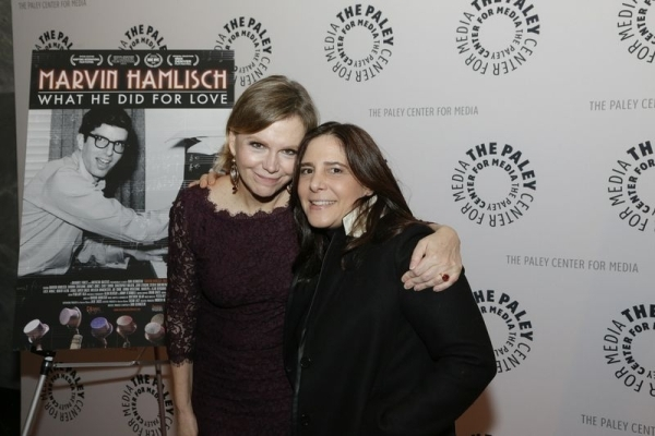 <p>Hamlisch enjoys the evening with producer Dori Berinstein. </p><br />(© Heidi Gutman)