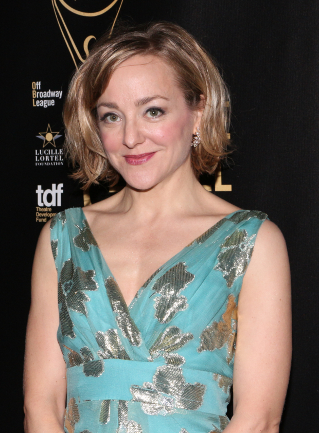 <p><em>Hand to God</em> Tony nominee Geneva Carr presented the award for Outstanding Lead Actress in a Play.</p><br />(© David Gordon)