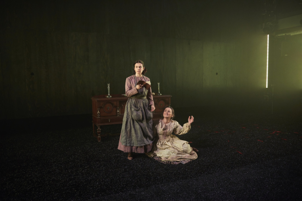 <p>Hannah Cabell plays Marjory, and Birgit Huppuch plays Huldey in <em>The Moors</em>.</p><br />(© Joe Chea)
