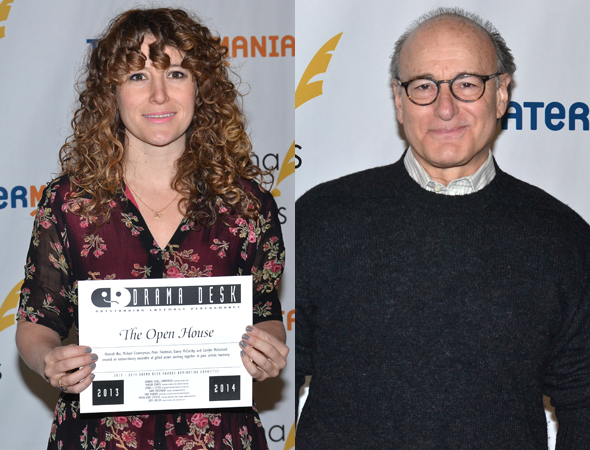 <p>Hannah Bos and Peter Friedman — Special Award winners for <em>The Open House</em>.</p><br />(© David Gordon)