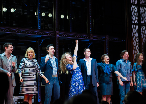 <p>Happy anniversary to <em>Beautiful</em> on Broadway!</p><br />(© Allison Stock)
