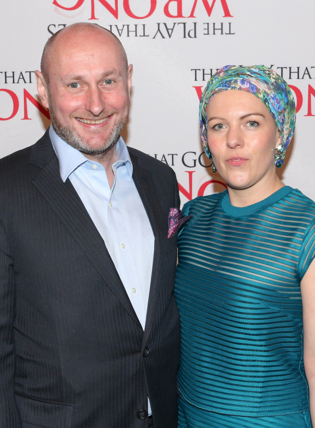 <p>Happy opening to <em>Play That Goes Wrong</em> director Mark Bell!</p><br />(© David Gordon)