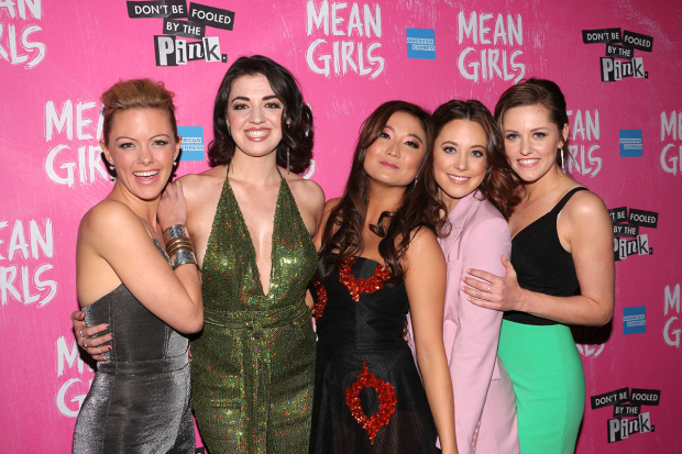<p>Happy opening to the family of <em>Mean Girls</em> on Broadway!</p><br />(© David Gordon)