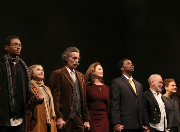 <p>Happy opening to the stars of <em>The Cherry Orchard</em>!</p><br />(© David Gordon)