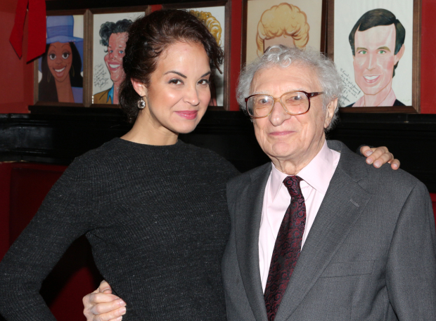 <p>Harnick gets close with Alexandra Silber, who currently plays Tzeitel in Broadway&#39&#x3B;s <em>Fiddler</em> revival.</p><br />(© David Gordon)