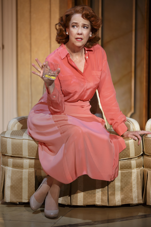 <p>Harriet Harris plays Georgette, the unhappy mother of the groom. </p><br />(© Joan Marcus)
