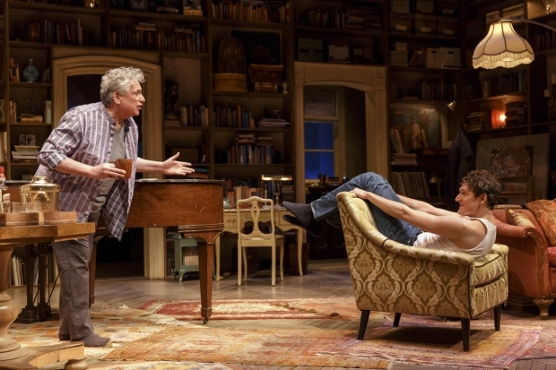 <p>Harvey Fierstein and Gabriel Ebert also collaborated on the Broadway production of Fierstein&#39&#x3B;s play <em>Casa Valentina</em>.</p><br />(© Joan Marcus)