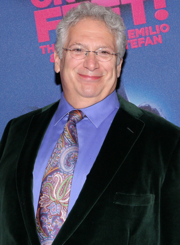 <p>Harvey Fierstein is pleased to cheer on his <em>Kinky Boots</em> director/choreographer, Jerry Mitchell, on his latest opening night.</p><br />(© David Gordon)