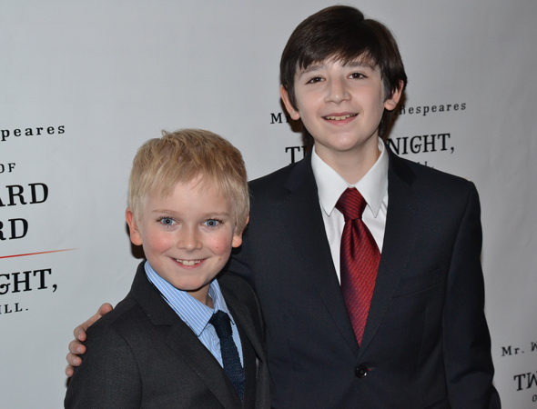 <p>Hayden Signoretti and Matthew Schechter are the youngest cast members of <em>Richard III</em>.</p><br />(© David Gordon)
