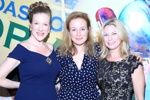 <p>Henny Russell, Jennifer Ehle, and Angela Pierce celebrate their opening night.</p><br />(© Tricia Baron)