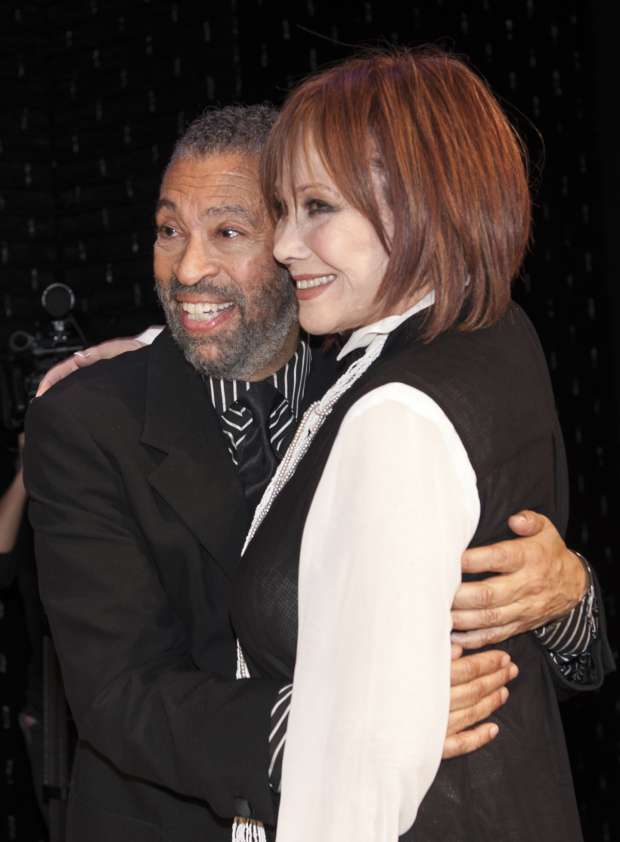 <p>Hines and Michele Lee pose for photos.</p><br />(© Allison Stock)