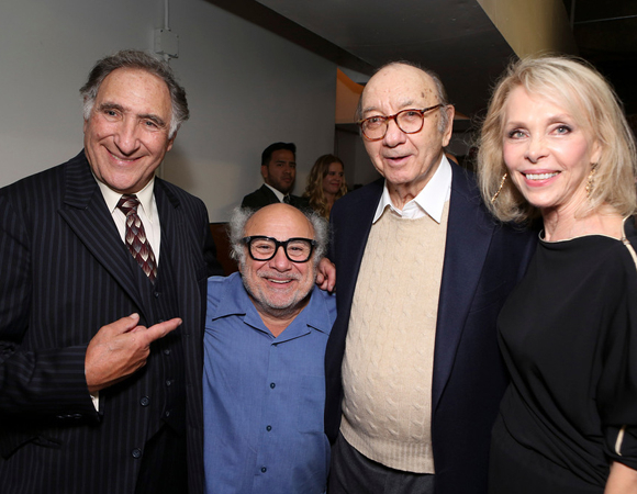 <p>Hirsch and DeVito pose alongside playwright Neil Simon and his wife, actress Elaine Joyce. </p><br />(© 2013 Ryan Miller/Capture Imaging)